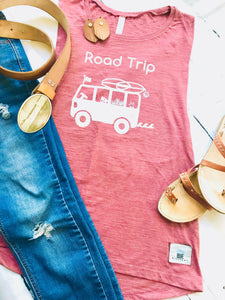 Road Trip Tank Top- Mauve