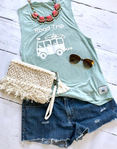 Road Trip Tank Top- Mint