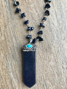 Midnight Crystal Shimmer Drop Necklace