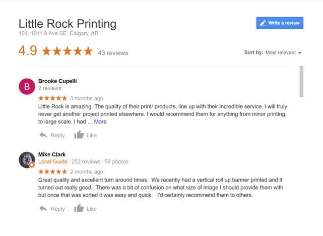 little rock printing google reviews