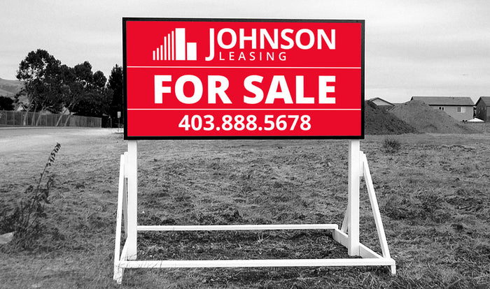 4x8 Commercial Real Estate Skid Sign Calgary