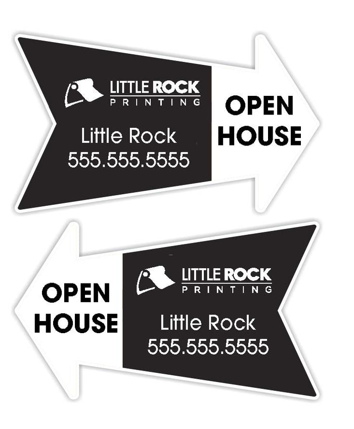 directional coroplast real estate signs