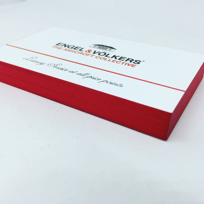 Painted Edge Business Cards - littlerockprinting