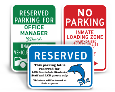 Parking Signs - littlerockprinting