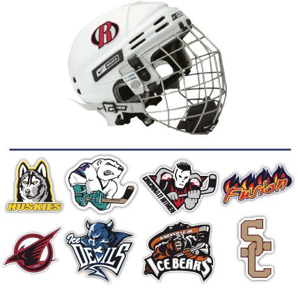 Hockey Helmet Stickers - littlerockprinting