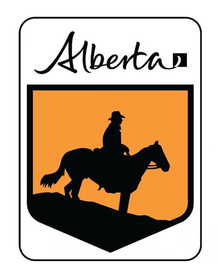 Cowboy Trail Replica Alberta Highway Metal Sign