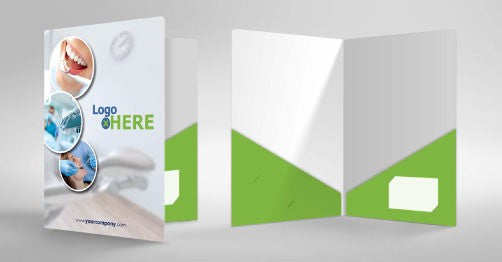 diagonal pocket presentation folders
