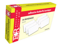 Adhesive Butterfly Bandages - Box of 16