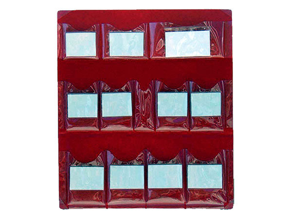 Vinyl First Aid Cabinet - 12 Pocket Insert
