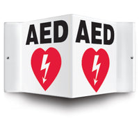 AED - 3 Way Sign