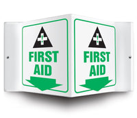 First Aid - 3 Way Sign