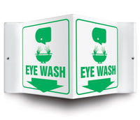 Eye Wash - 3 Way Sign