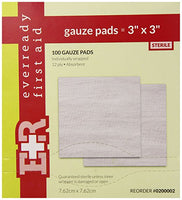 "3"" x 3"" - 12 Ply Sterile Gauze Pads - Box of 25"