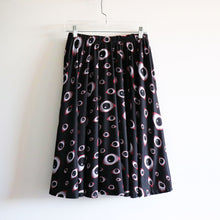 Creepy Eyes Midi Skirt With Pockets