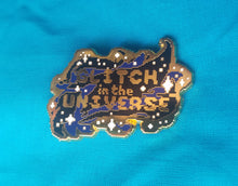 Glitch in the Universe Enamel Pin - Gold & Black Space Enamel Pin