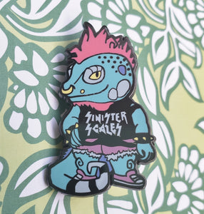 Sinister Scales Punk Animal Enamel Pin