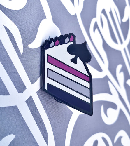 Ace of Cakes Asexual Pride Enamel Pin