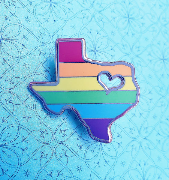 Gay Texas Pride Enamel Pin