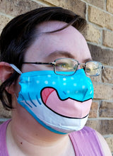 Whale Shark Face Mask - Cotton Face Mask With Filter Pocket and 2 Inserts