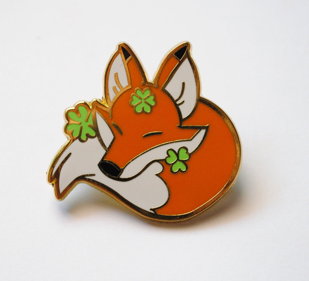 Lucky Fox Enamel Pin