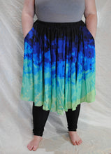 Pixel Tides Midi Skirt With Pockets
