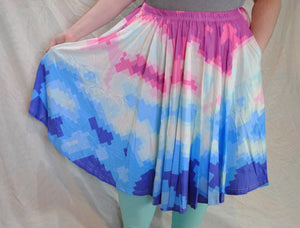 Pixel Radar Midi Skirt With Pockets