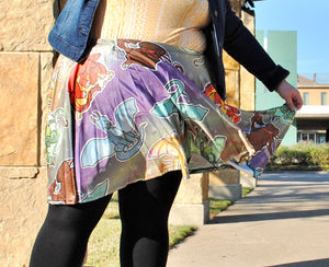 Dragons Skater Skirt with Pockets