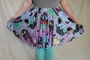 Spooky Ice Cream Skater Skirt with Pockets