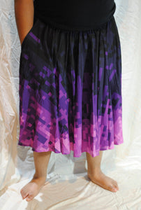 Pixel Goth Midi Skirt With Pockets
