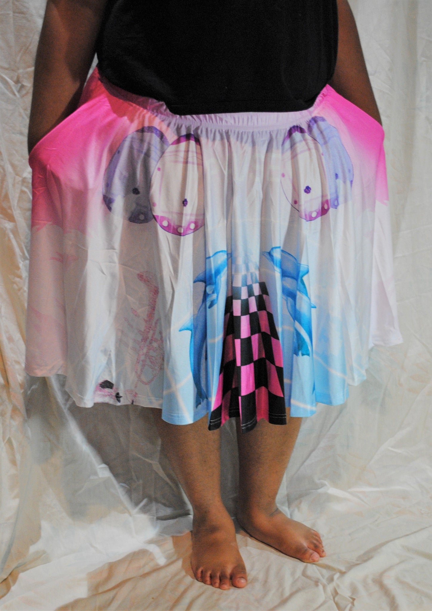 Vaporwave Skirt With Pockets – freshhotflavors