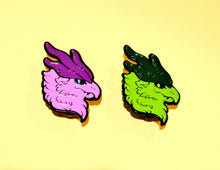 Fluffy Dragon Enamel Pins