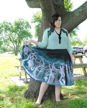 Spooky Forest Midi Skirt with Pockets