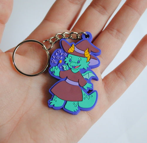 SALE - Dragon Witch PVC Keychain