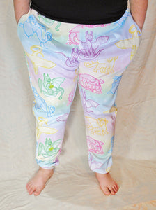 Pastel Dragons Jogger Pants