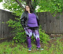 Pixel Pride Eclipse Jogger Pants with Pockets - Ace / Asexual Pride