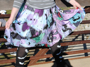 PRE-ORDER Spooky Ice Cream Skater Skirt with Pockets