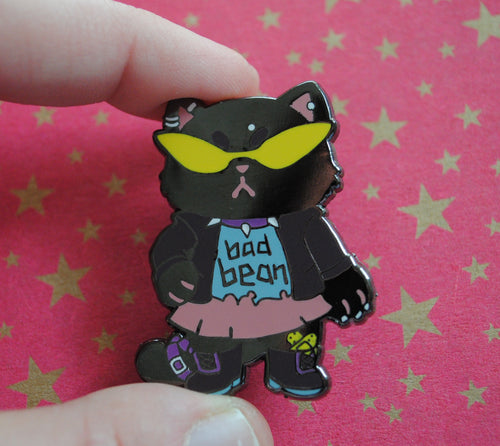 Bad Bean Punk Animal Enamel Pin