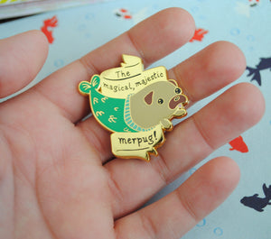 SALE Merpug Enamel Pin