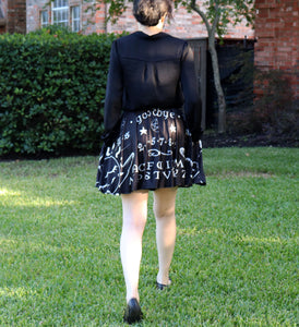 Ouija Board Skirt With Pockets - Black (A/B Size In Stock, C Size PRE-ORDER)