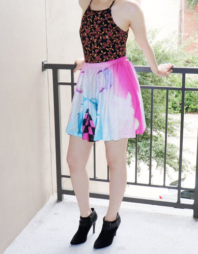 Vaporwave Skirt With Pockets