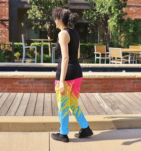 Pixel Pride Palette Jogger Pants with Pockets - Pan / Pansexual Pride