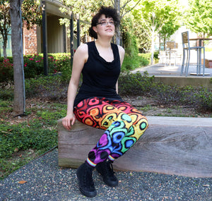 Pixel Pride Effervescent Jogger Pants with Pockets - Gay / LGBT Pride