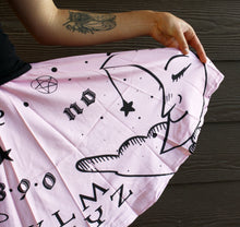 Ouija Board Skirt With Pockets (Pink)