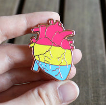 Anatomical Heart Pan Pride Enamel Pin
