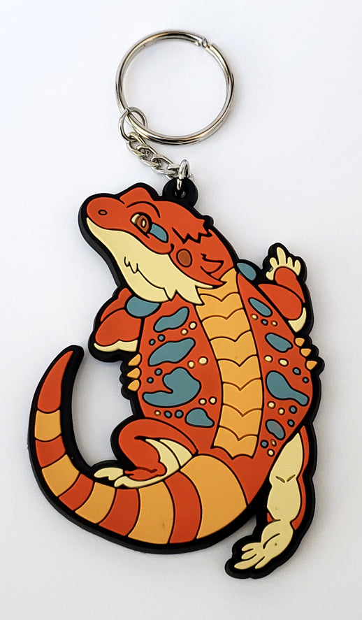 Bearded Dragon PVC Keychain