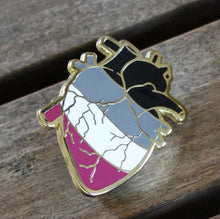 Anatomical Heart Ace Pride Enamel Pin