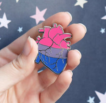 Anatomical Heart Bi Pride Enamel Pin