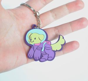 Space Pup PVC Keychain