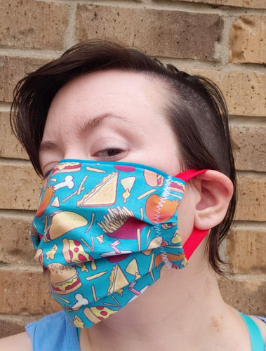 Junk Food Face Mask - Adjustable Sizing