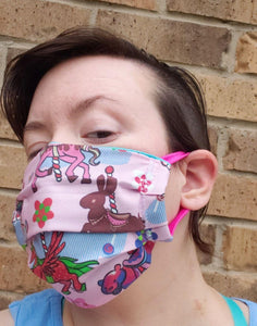 Candy Carousel Face Mask - Adjustable Sizing